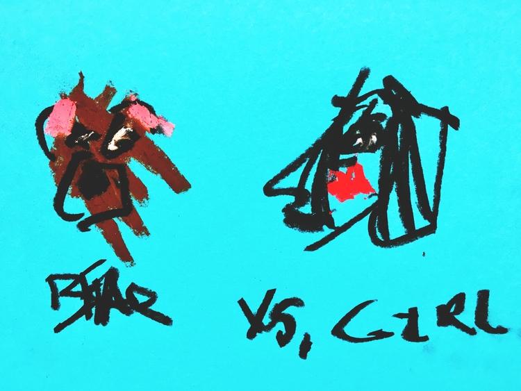 BEAR GIRL - art, drawing, illustration - jkalamarz | ello