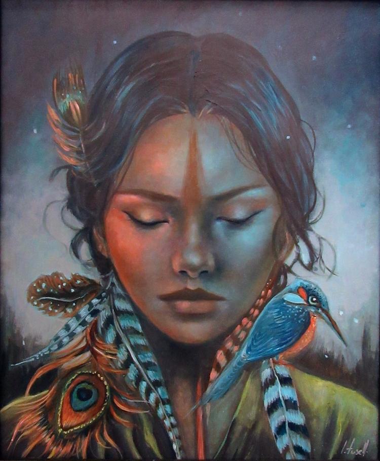 Ocaso indiano - oilpainting, darkcolors - ingridtusell | ello