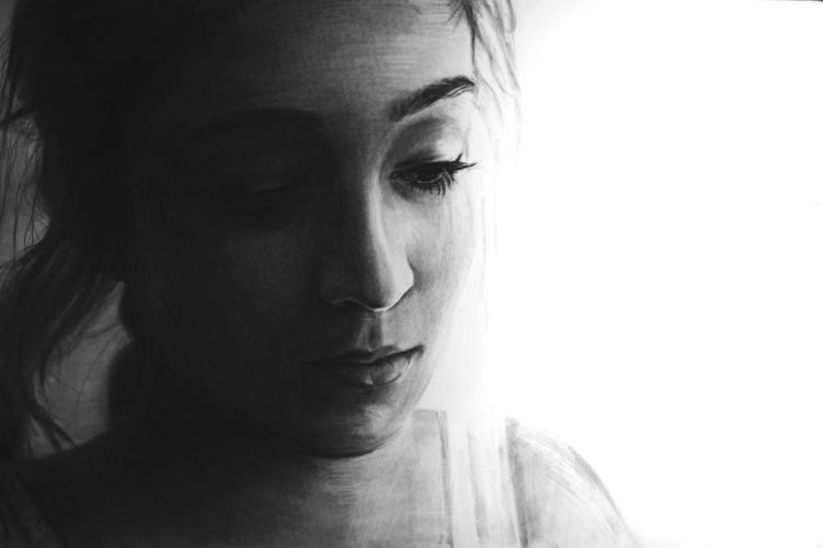 Jaclyn (charcoal drawing) Skyle - skyler_brown_portraits | ello