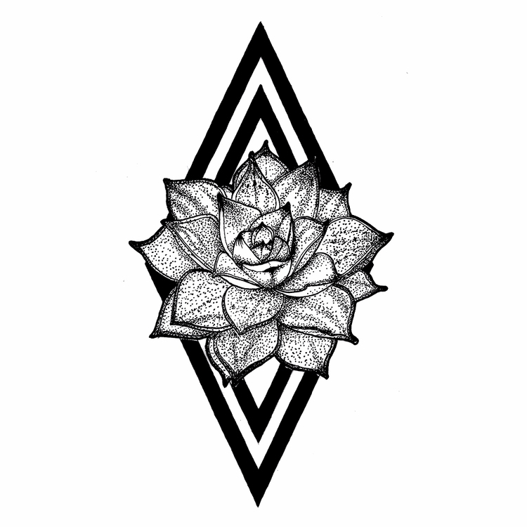 Succulent - ink, tattoos, inked - rotserp | ello