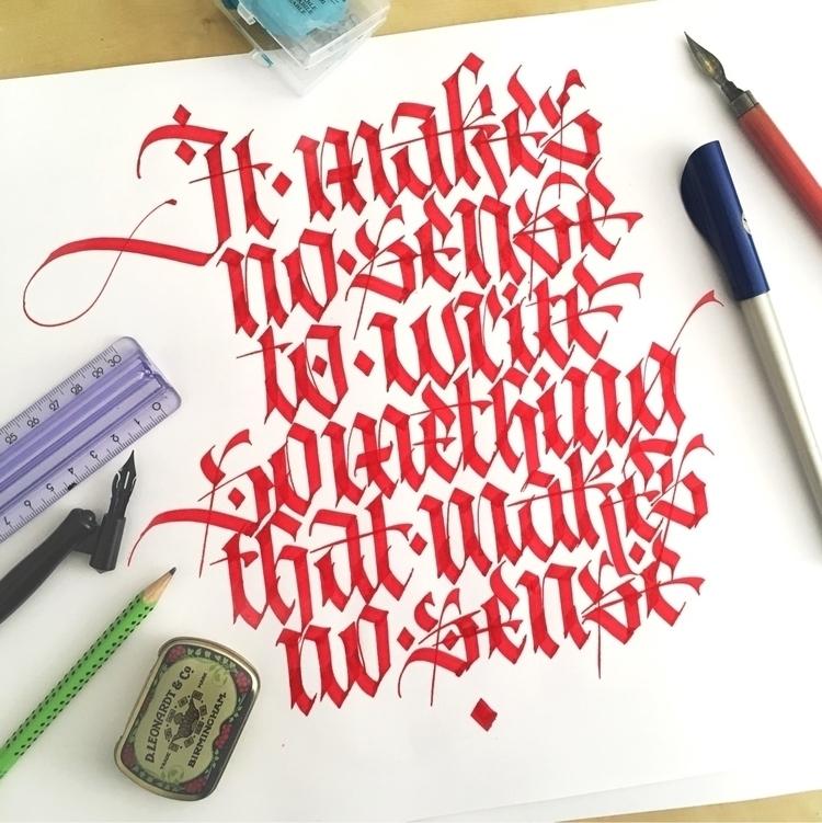 sense write sense!!!  - calligraphy - theatanas | ello