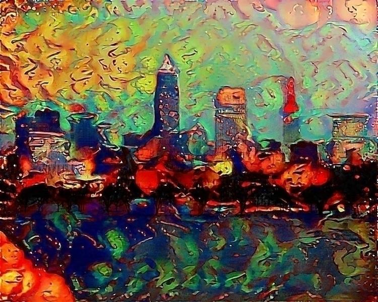 Mashup Cleveland skyline photo  - kenlong | ello