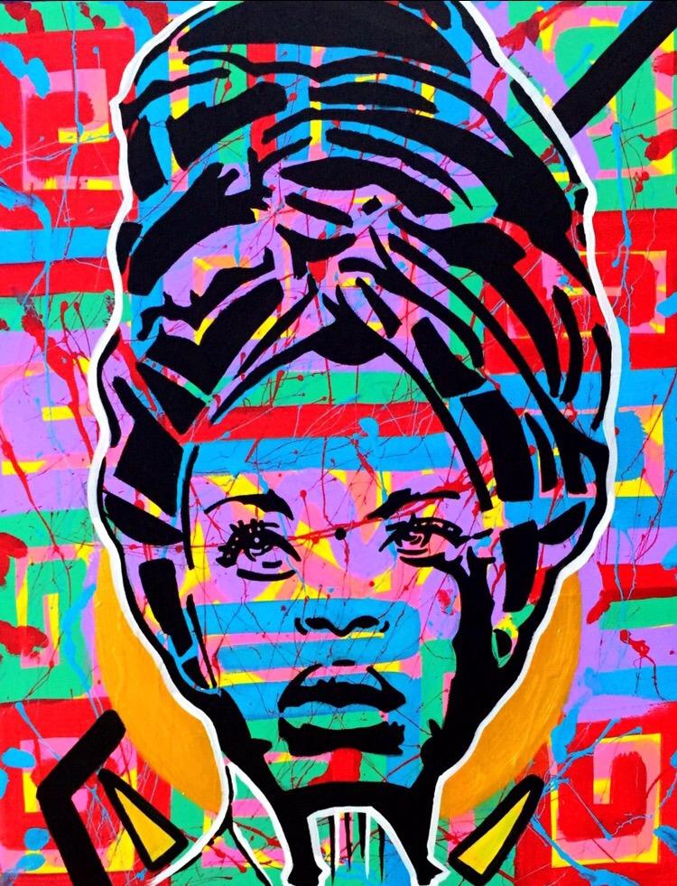 Bag Lady, acrylic canvas, 16x20 - graffitiegypt_ | ello