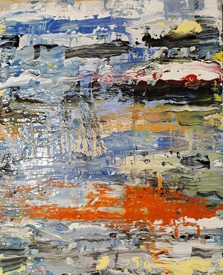Koi - 2017, acrylic canvas - elloart - stevenlarson | ello