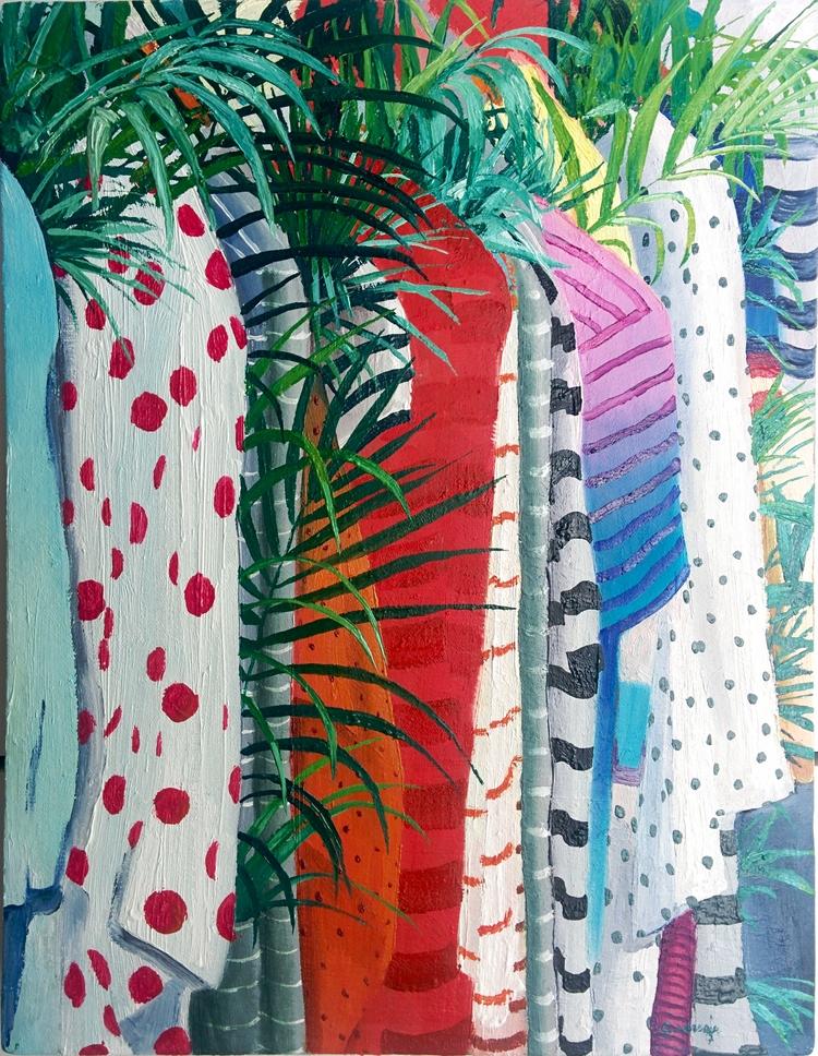 series painting clothes plants  - juancarlosrosacasasola   ello