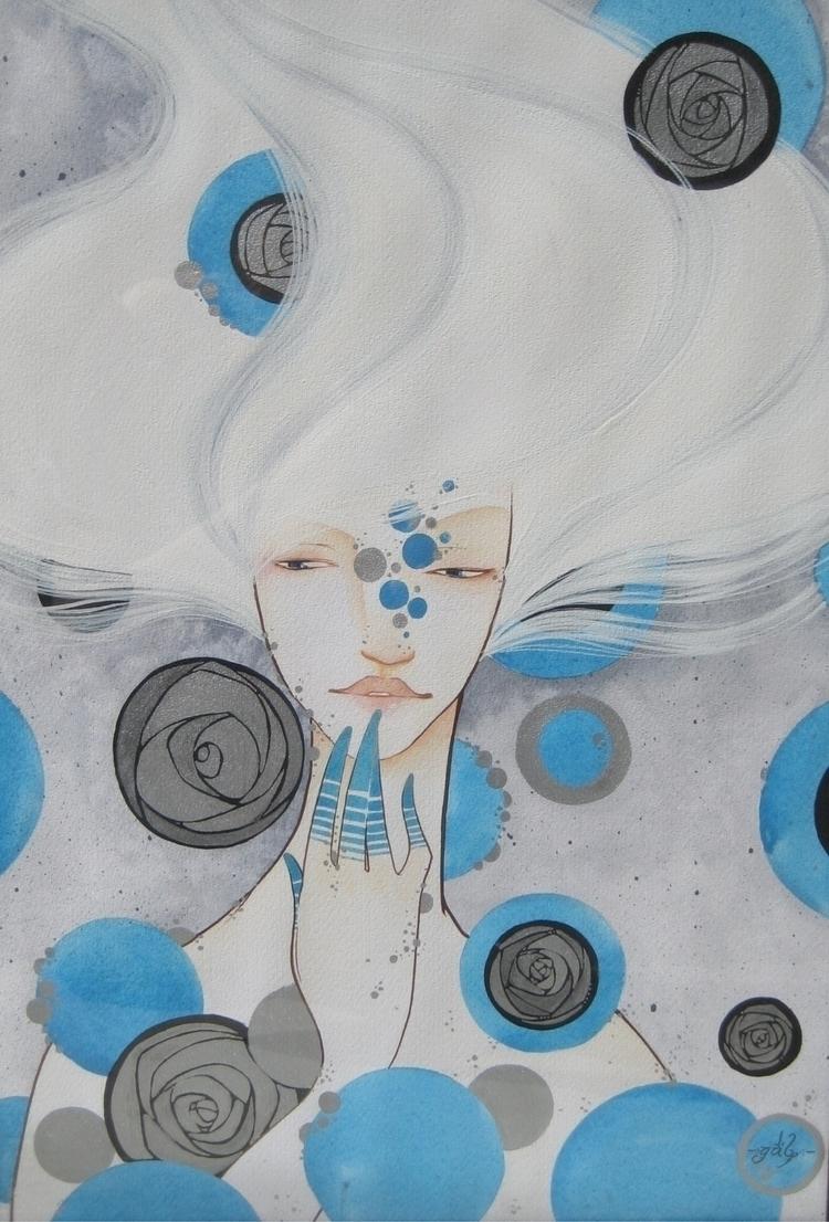MERMAID Mixed Paper - Mermaid, Illustration - gabs_1901 | ello