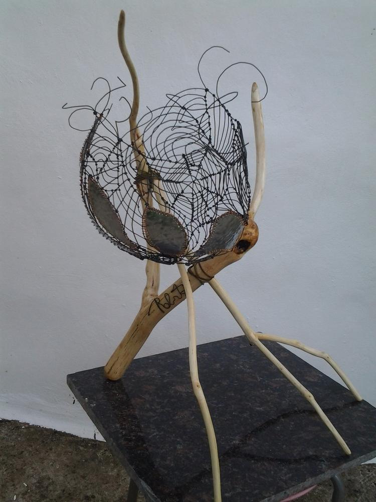Wire pounded tin mango wood - 1robert | ello