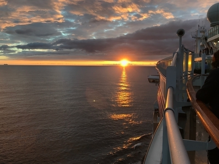 Sailing North Sea sunset - cruise - paulgriffiths | ello