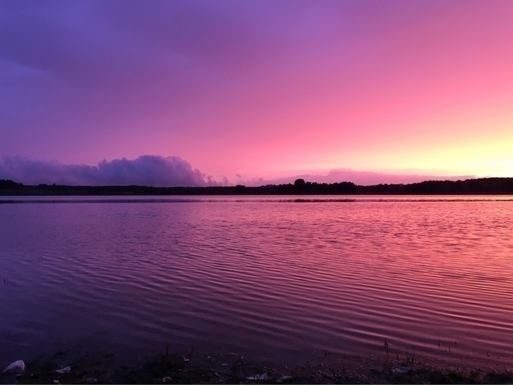 Evening chill lake - sunset, clouds - nopsledge | ello