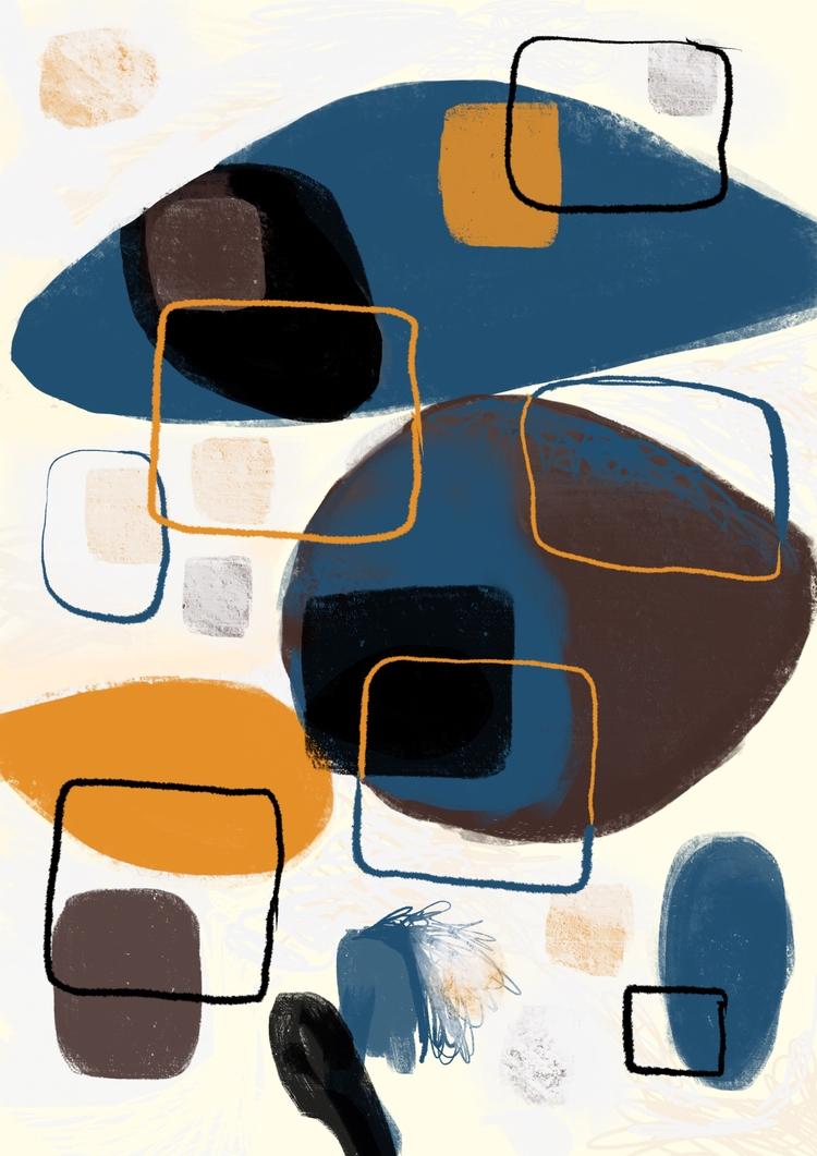 abstractart, modernart, midcentury - chrissyink | ello