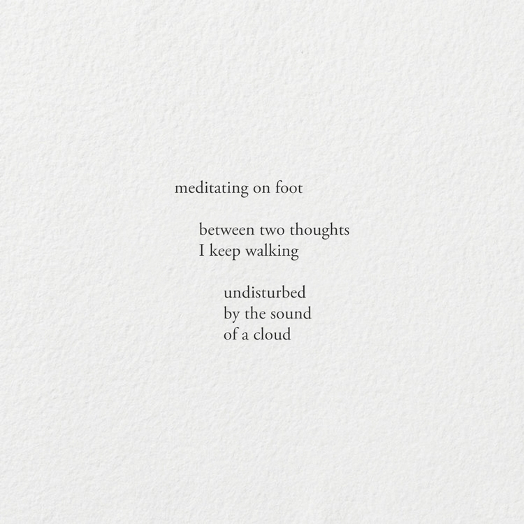 Walking meditation /  - poetry, cherita - andomcdonnell | ello