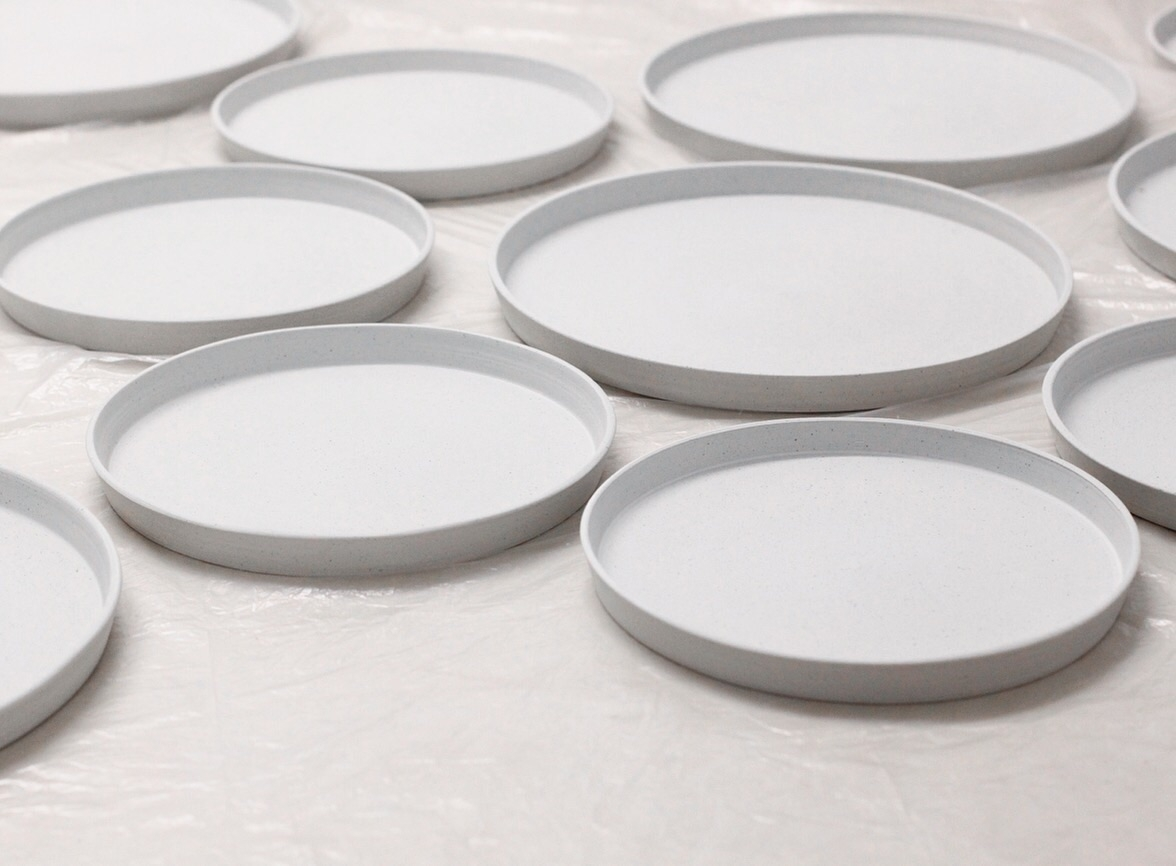 Thrown plates drying - elliottceramics | ello