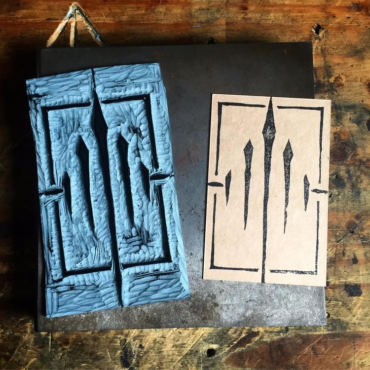 passion linocut printing! fun,  - daughterofmercury | ello