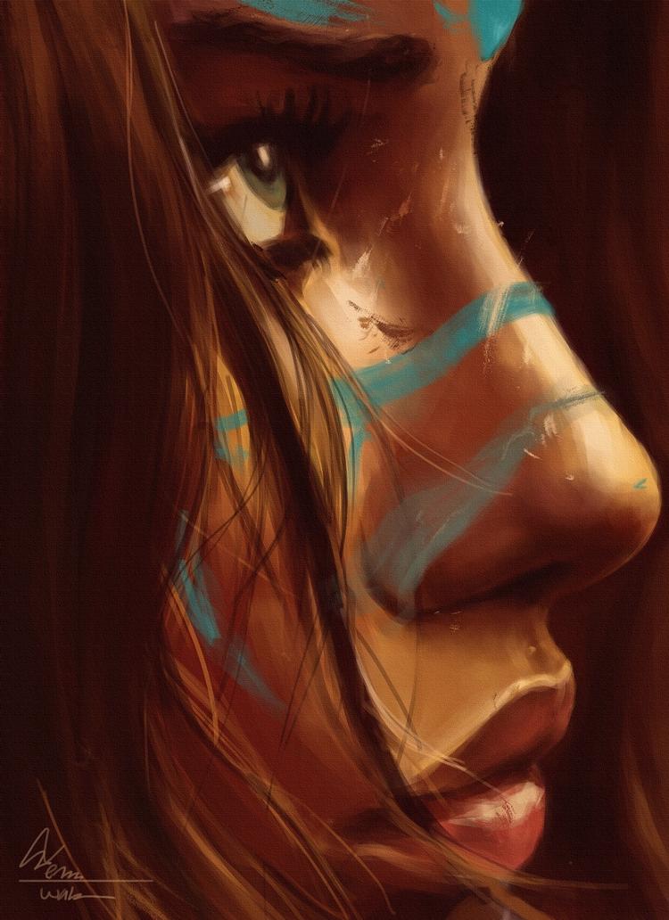 portrait study Adrianna Lima em - temariuswalker | ello