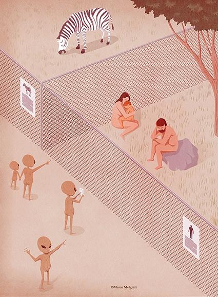 Zoo - aliens, zoo, garden, nature - marcomelgrati | ello