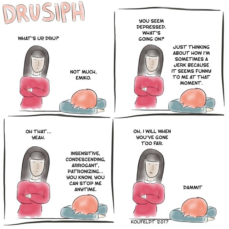 drusiph, monday, comedy, comic - drusiph | ello