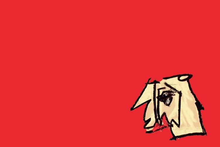 GIRL, red - art, drawing, design - jkalamarz | ello