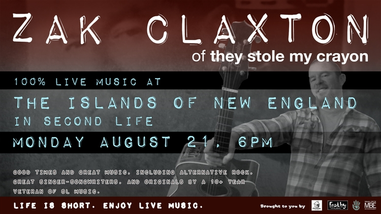 TONIGHT (Mon Aug 21), 6PM SLT:  - zakclaxton | ello