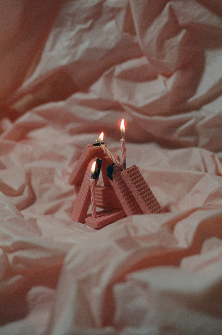 Pink Wafers Birthday Candles 35 - grandboisk | ello