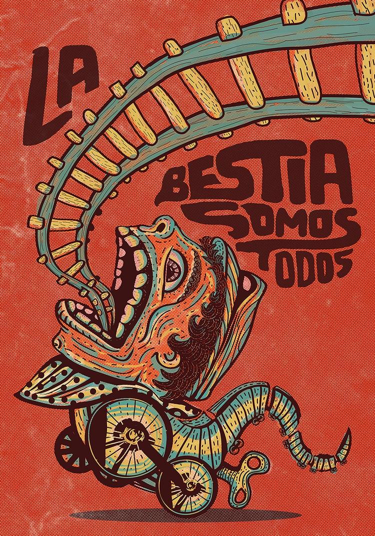 La Bestia Mexican Iron Horse. C - lalohuesca | ello
