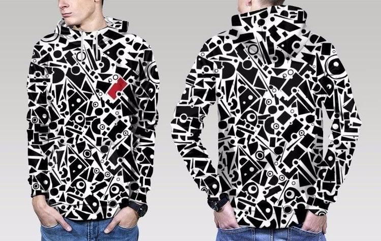 fashion, hoody, print, alloverprint - ariadnagraphics | ello