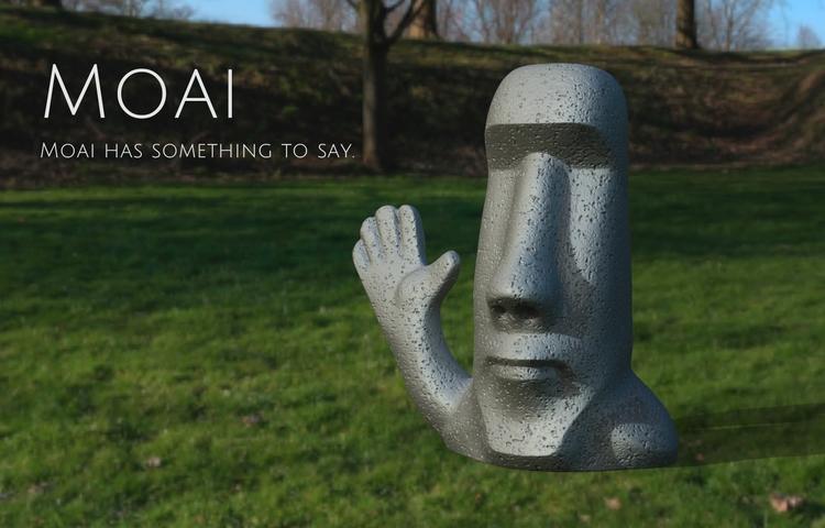 Moai design table decoration, m - artartifactstw | ello