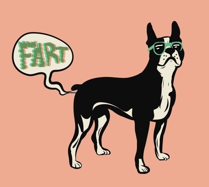 bostonterrier, fart, illustration - mamut_creative | ello