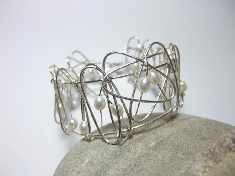 main structure bangle single pi - silverwiredesigns | ello