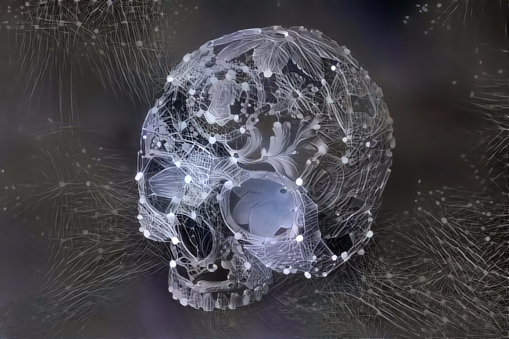 Deep dreams - White skull - art - alain-bellino | ello