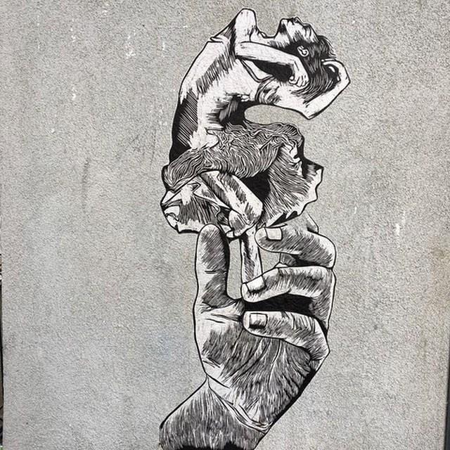 Dancer - streetart, streetartist - philippefabry | ello
