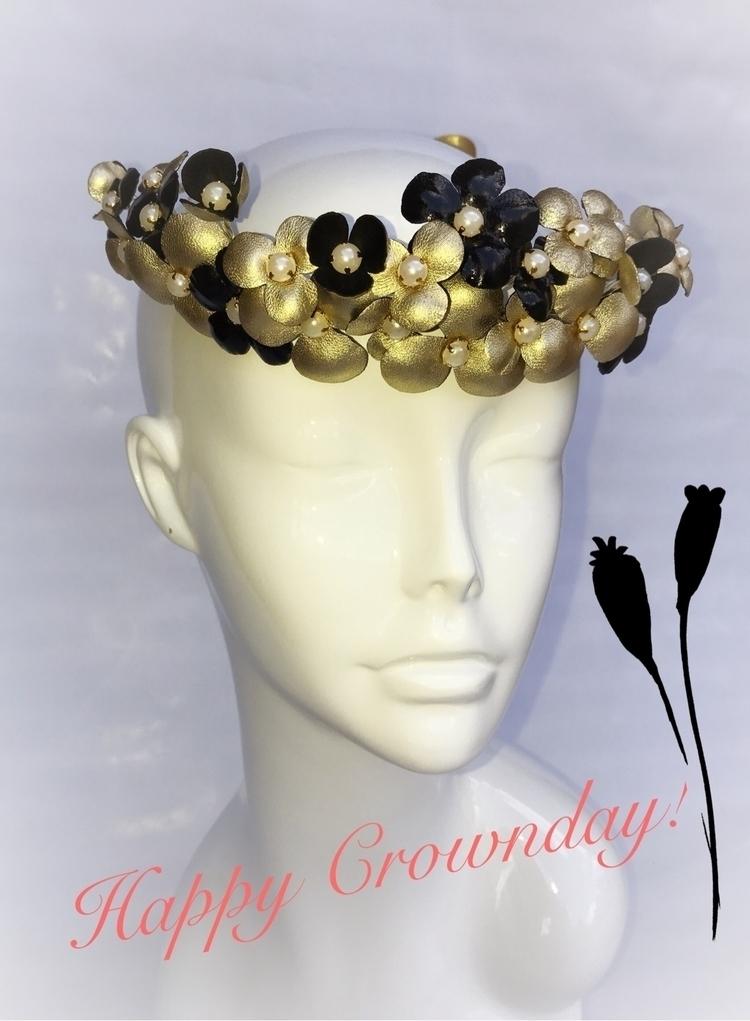 gold headpiece - floralwreat, goldheadband - mivida | ello
