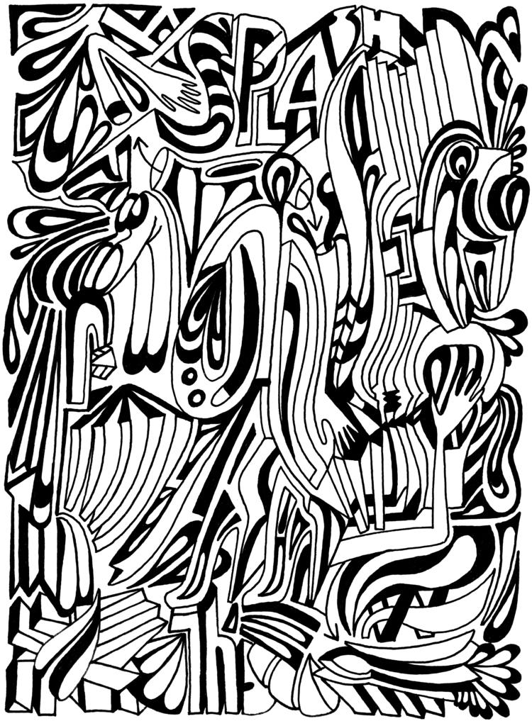Splash - doodle flow - elmarnoteboom | ello