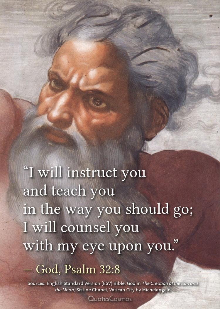 instruct teach — God, Psalm 32 - quotescosmos | ello