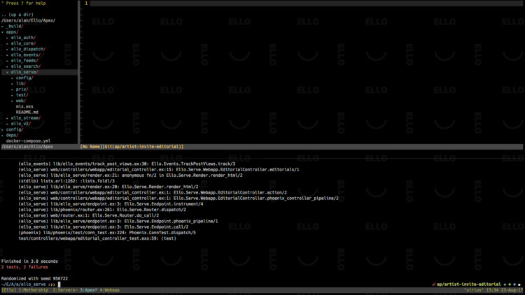 background editor/terminal. fai - alanpeabody | ello