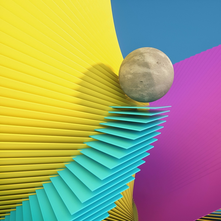 3d, creative, abstract, colorful - dimashishkov | ello