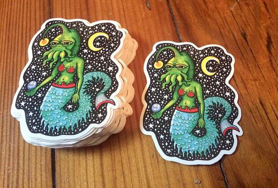 Cthulhu vinyl art stickers. sti - toryerpenbeck | ello