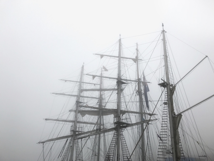 Ghost ships - monochrome, NewBrunswick - jamesanok   ello