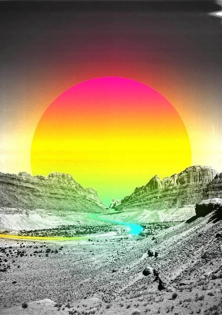 Sunset  - DigitalArt, Collage, Space - darlingdesign | ello