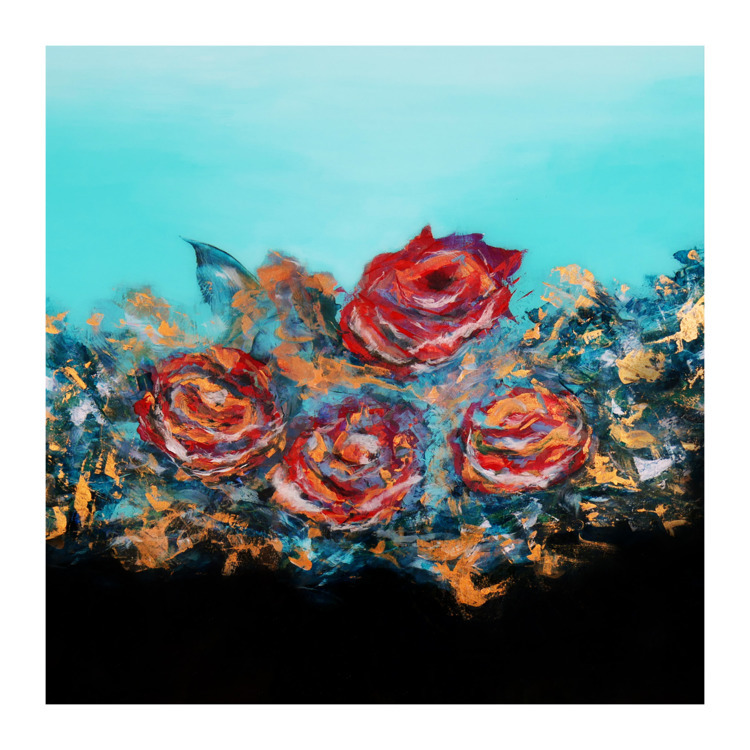 roses, abstractpainting, abstractart - silviawood | ello