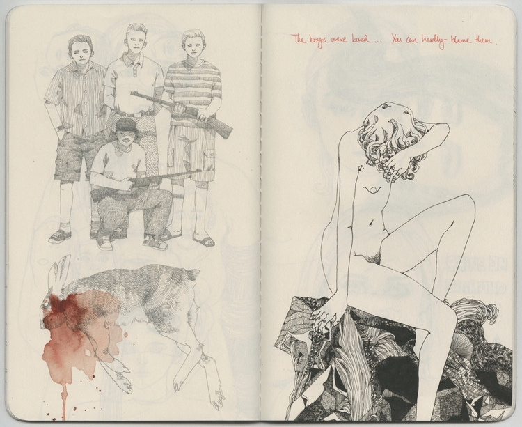 boys bored - sketchbook - lucong | ello
