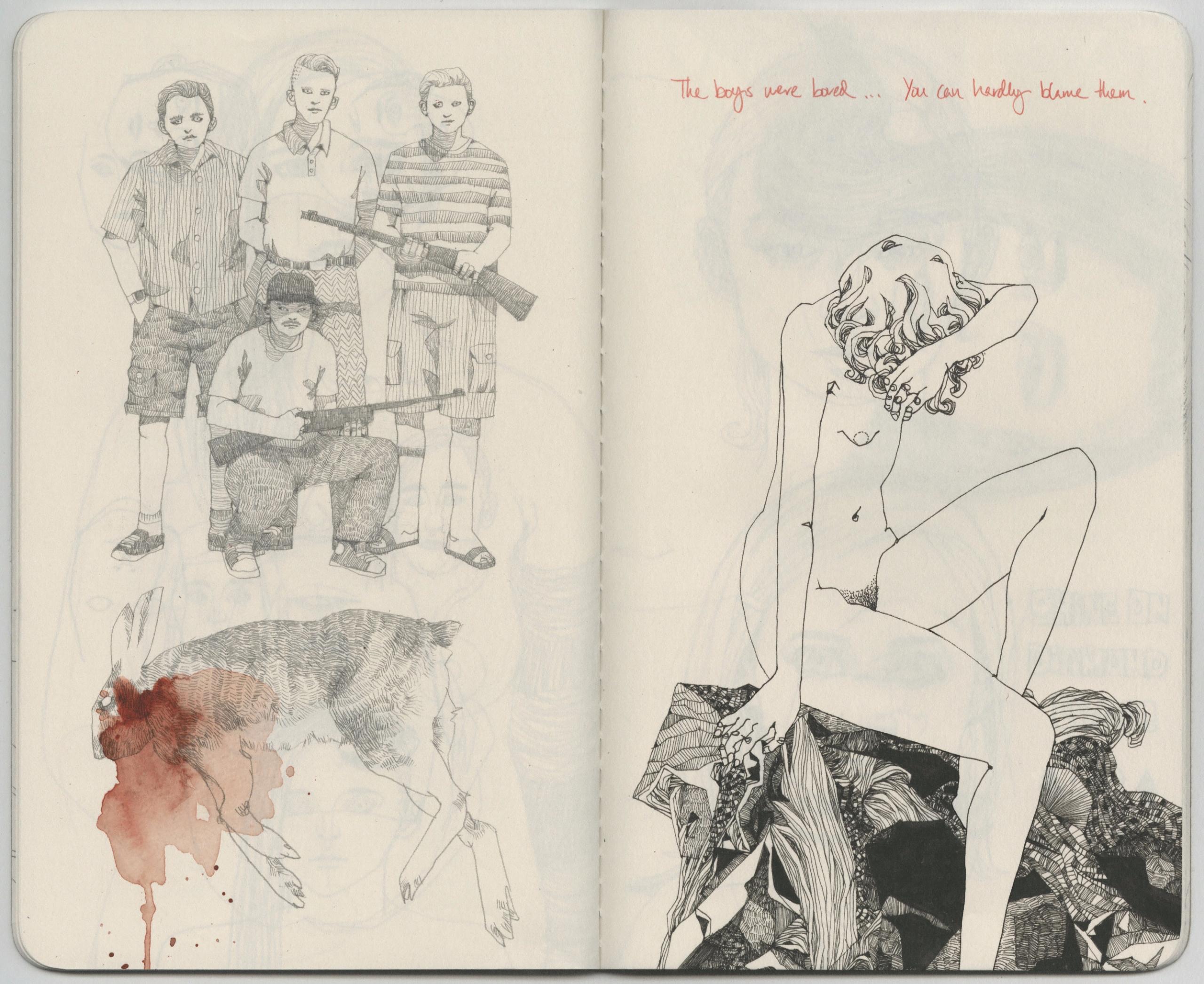 boys bored - sketchbook - lucong | ello