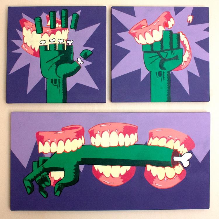 40x40 - 40x80, acrylic canvas - somon | ello