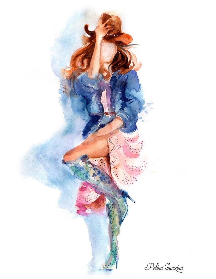 Fashion girl. Seagulls. Fern Su - polinaganzina | ello
