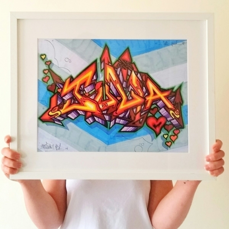 Painted birthday babe - graffiti - shaneomalleyart | ello