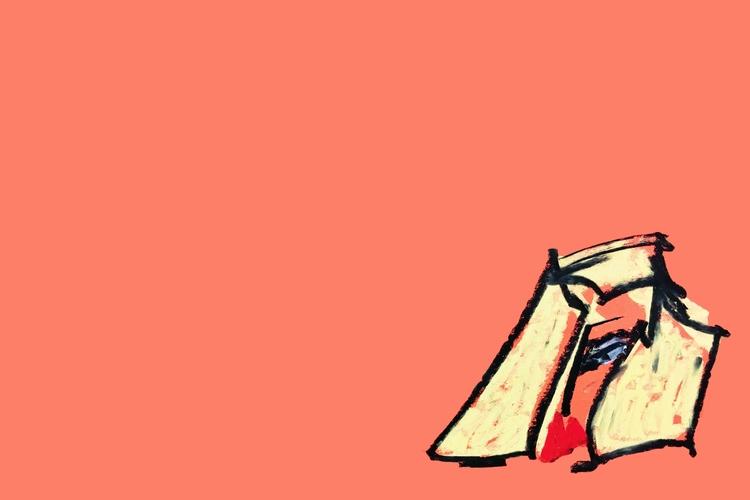 Girl, IX orange - art, drawing, design - jkalamarz | ello