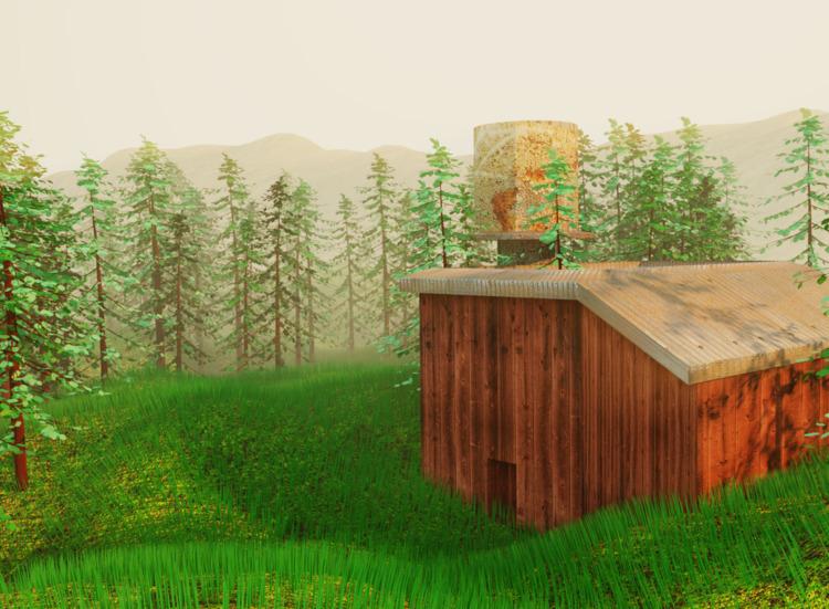 art, gameart, mist, forest, farm - solutuminvictus | ello