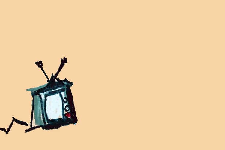 TV - art, drawing, Television, minimalism - jkalamarz | ello