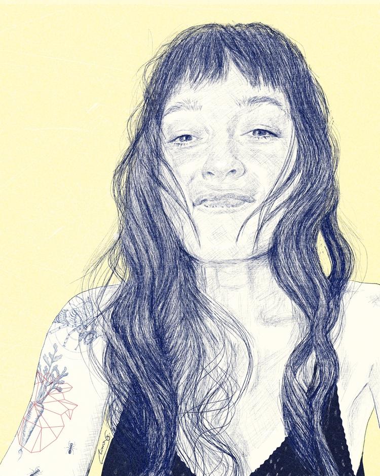 portrait - illustration, drawing - roma_gutierrez | ello