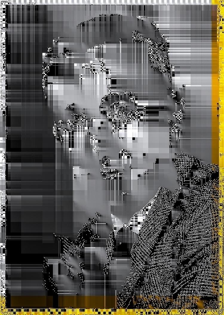 man - elloglitchart, glitchart, newmedia - twinpixel | ello