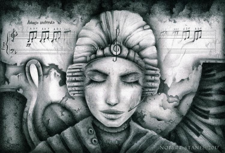 Moonlight Sonata - Pencil Drawi - nobertstanel | ello